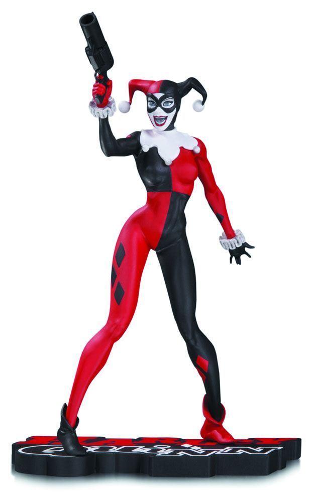 Statuette Harley Quinn by Jim Lee - DC Comics rot Weiß & schwarz - 17 cm