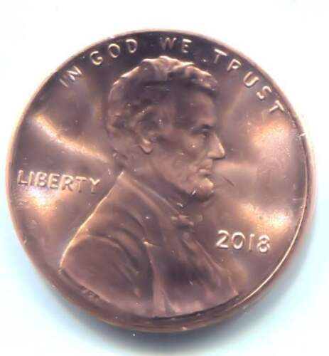 Uncirculated One Cent Coin Philadelphia Mint U.S 2018 P Lincoln Shield Penny