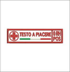 Patch-CROCE-ROSSA-ITALIANA-NOME-GRUPPO-cm-12x3-toppa-con-VEL-CRO-ricamo-637