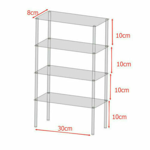 Acrylic Clear Stand Model Removable Display Shelf Transparent Perspex Stands DIY