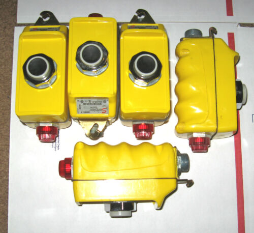 QTY-5 SERIPLEX 5 PIN CONTROL BUS 9001AEQ3438 SQUARE D PENDANT 24 vdc NEW 5PC LOT