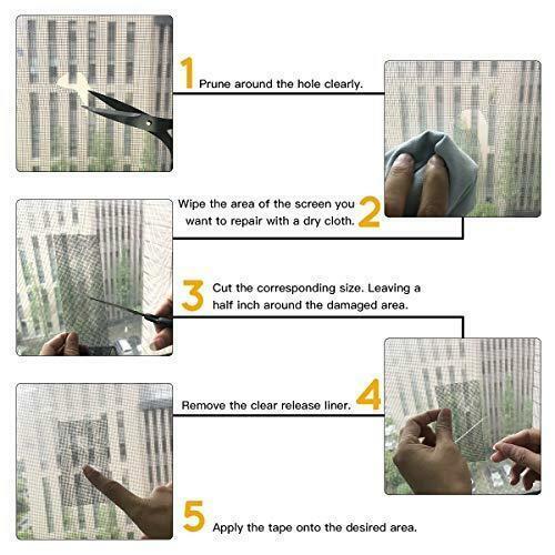 Fiberglass 20ft x 2in Door Window Screen Patch Repair Kit Screen Repair Tape