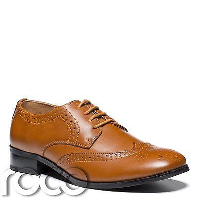 Boys Tan Shoes, Boys Brogues, Boys Formal Shoes, Boys Brown Shoes