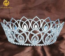Vintage Full Tiara Crown Crystal Headband Wedding Bridal Pageant Party Costumes