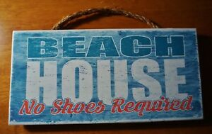 Image Is Loading Beach House Sign No Shoes Required Nautical Blue