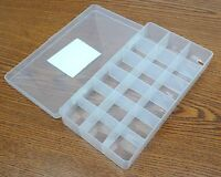 Lite-tuff No. 26 Series Polypropylene Conductive Box 8x4-1/8 18 Compartments