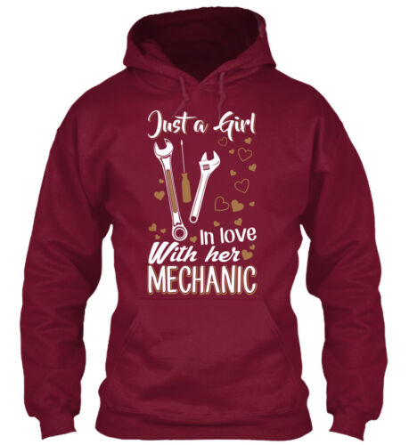 Girl In Love With Her Mechanic Just A Standard College Hoodie