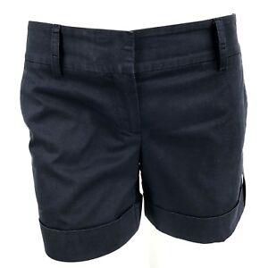 9ceeb7d395 Theory Shorts Womens Size 4 Navy Blue Cuffed Roll Tab Pockets 5 ...