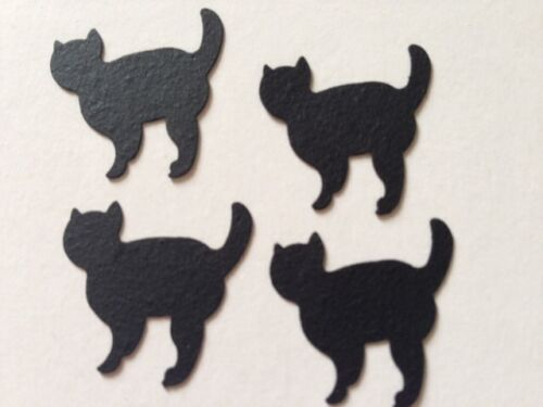 Halloween BLACK CAT kitten card Party table confetti decorations wedding animal