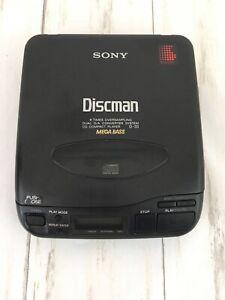 Sony-Discman-D-33-Portable-Compact-CD-Player-Mega-Bass-NOT-WORKING