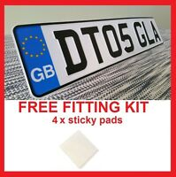 DEFENDER GB Badge Car Front Metal Aluminium Number Plate Embossed Pressed  Legal