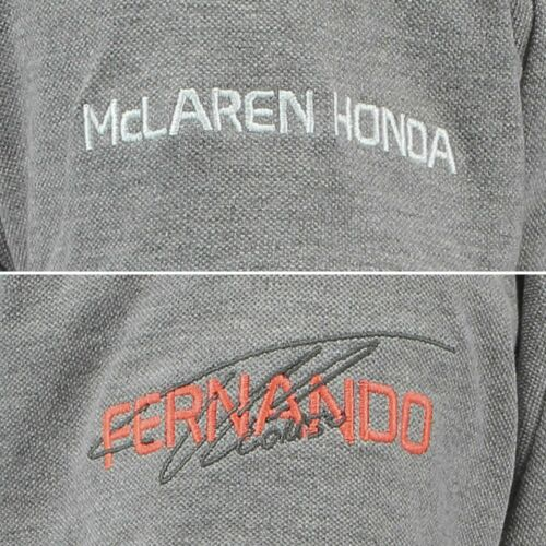 100/% Official McLaren Honda Fernando14 Men/'s Polo Shirt