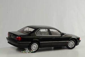 BMW-740i-E38-Mki-1-Series-1994-Limousine-Black-Metallic-Diecast-1-18-Kk-Scale