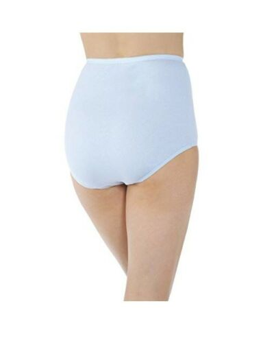 Vanity Fair Womens 15318 Perfectly Yours Tailored Cotton Brief Panty Blue 9//2XL