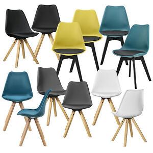 En Casa 2x Design Stuhle Esszimmer Stuhl Holz Kunststoff Kunst