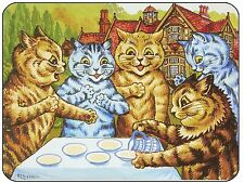 Louis Wain Garden Party Cats Mouse Mat, mousepad,