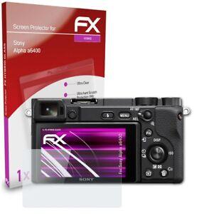atFoliX Pellicola Vetro per Sony Alpha a6400 9H Armatura di protezione