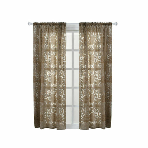 Vorhang Blickdicht Gran Voile Vorhang Schlaufenschal Gardine Wohnzimmer Deko