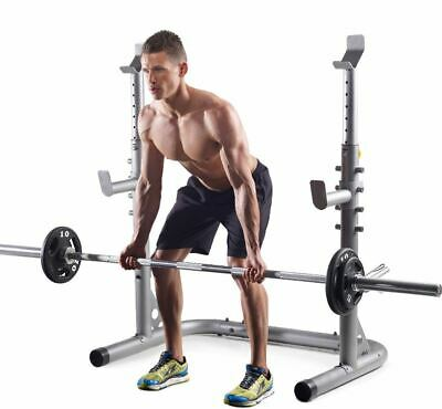 new golds gym workout squat rack bench power weight stand
