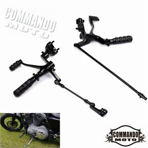 Motorcycle-Foot-pegs-Forward-Controls-Kit-w-Pegs-Levers-Linkage-Fit-For-Harley