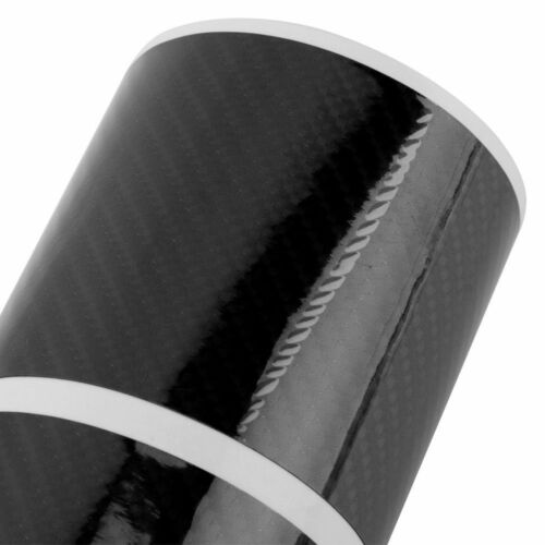 4x 5D Glossy Carbon Fiber Car Scuff Plate Door Sill Sticker Fit For Ford F-150