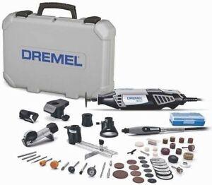 50-Accessory 6-Attachment Dremel Rotary Tool Kit 1.6 Amp Case Keyed Chuck