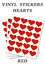 Red-Heart-Stickers-25mm-Self-Adhesive-Waterproof-Vinyl-Labels-pack-of-100 thumbnail 1