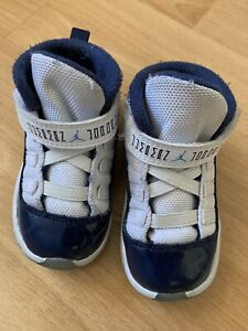 378040-123-2-0-Air-Jordan-11-Retro-TD-Toddler-White-SZ-6CWorn