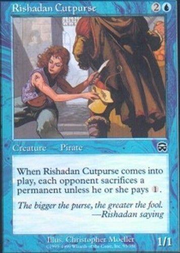 Rishadan Cutpurse SP Mercadian Masques MTG Magic The Gathering Blue English Card