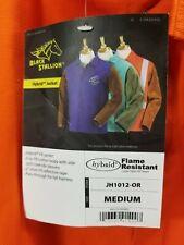 Black Stallion Hybrid Fr Cotton Cowhide Welding Jacket Orange Medium M89