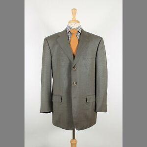 Ermenegildo Zegna 48R Green Wool Three Button Mens Sport Coat Blazer Jacket