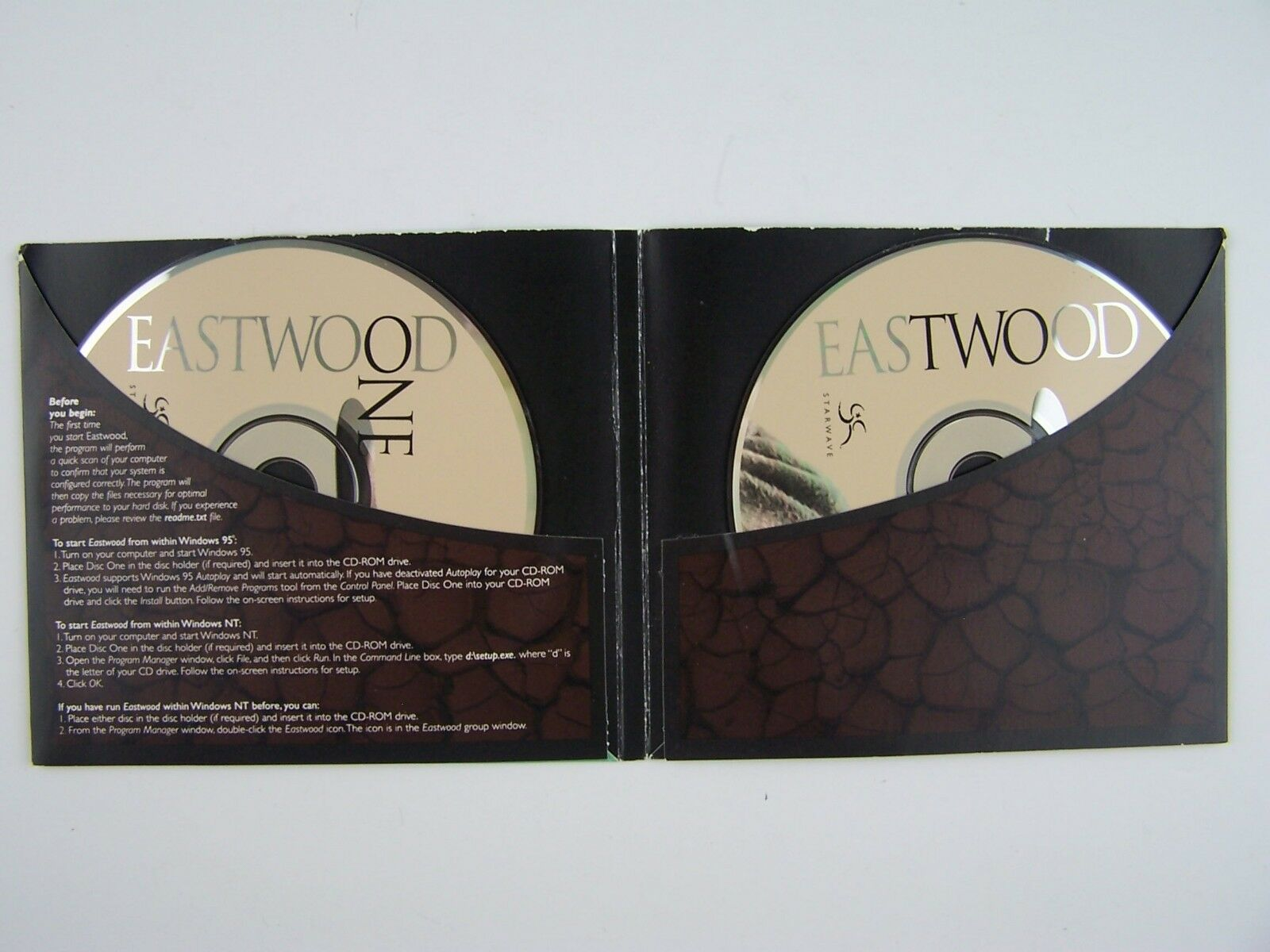 Clint EASTWOOD 2xCD PC Game Documentary Biography by St