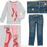 Gymboree 6 7 8 Wild For Horses 2pc Lot Sequin Glitter Ballet Shoes Top Jeans