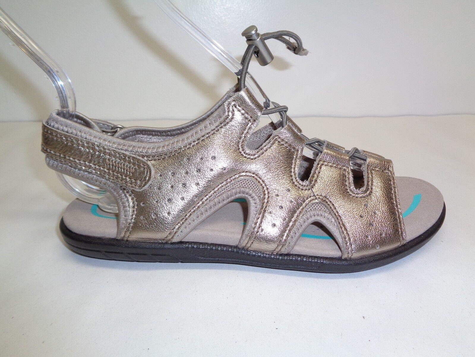 Ecco Größe 5 to 5.5 Eur 36 BLUMA TOGGLE Grau Leder Sandales NEU Damenschuhe Schuhes