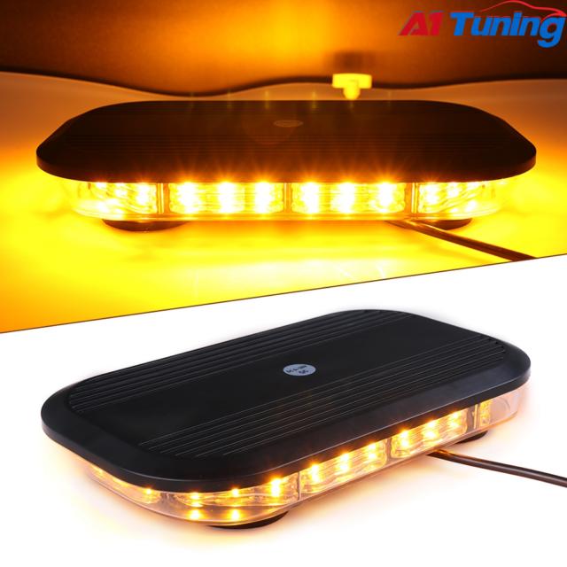 Primelux 12-inch 30x3W Amber LED Mini Bar Emergency Caution Warning Light Strobe