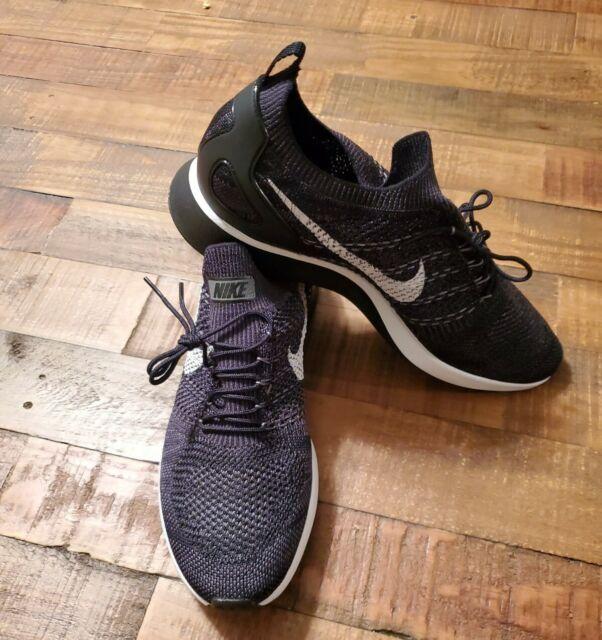 Nike Air Zoom Mariah Flyknit Racer Running Shoes 918264 010 Black Platinum 10.5