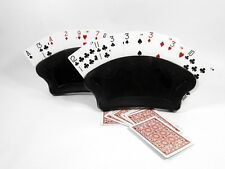 2 Fan Free Standing Playing Card Holder Canasta Hand Poker Rummy Pinochle Bridge