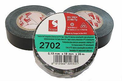 3x TESA PVC Isolierband 4252 kfz 19mm x 20m Iso Band Isoband Klebeband MwSt neu