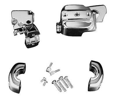 Kuryakyn Handlebar Control Dress Up Kit Chrome #9119 Harley Davidson