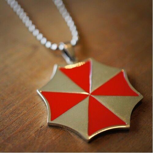 Resident Evil Umbrella Corporation Cadena De Acero Inoxidable Collares encanto colgante