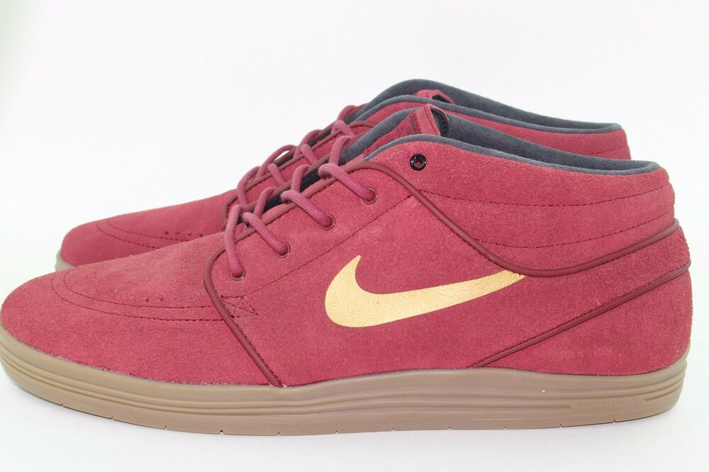 NIKE LUNAR STEFAN JANOSKI MID homme Taille 7.5 TEAM rouge NEW RARE AUTHENTIC