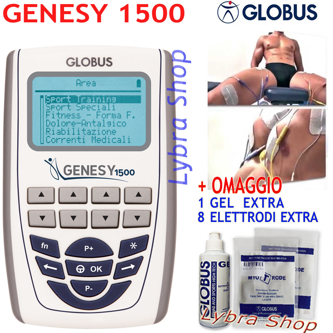Globus GENESY 1500 elettrostimolatore PROFESSIONALE Sport Correnti Medicali