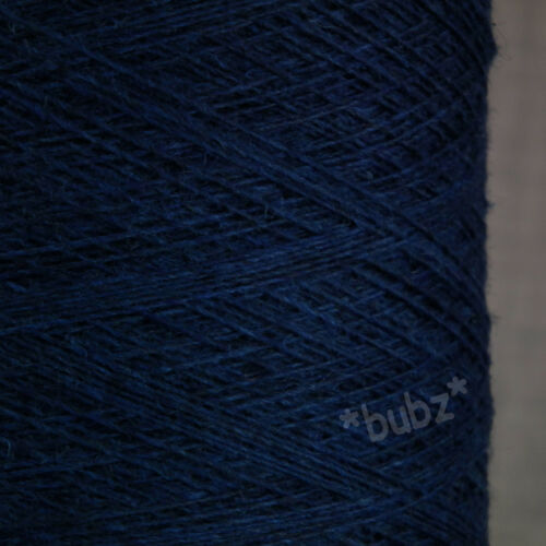 100/% PURE CASHMERE WEAVING YARN 100g CONE INDIGO BLUE 14 NM SINGLE FOLD TWIST