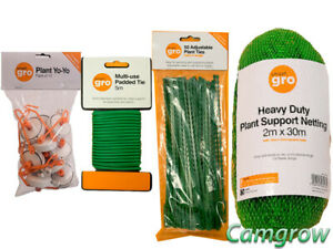 Details about Smart gro Plant Ties, Heavy Duty Netting Plant Support & YoYo  Pack