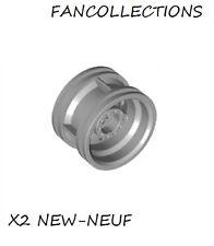 LEGO X 2 - Light Bluish Gray Wheel 30.4mm D. x 20mm - 56145 NEUF