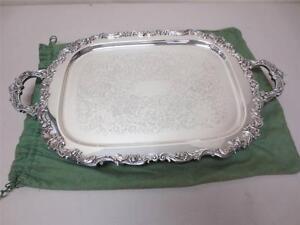 Details about Keystonwear Heavy Silverplate Serving Tray Platter Edwards &  Lebron Jewelers
