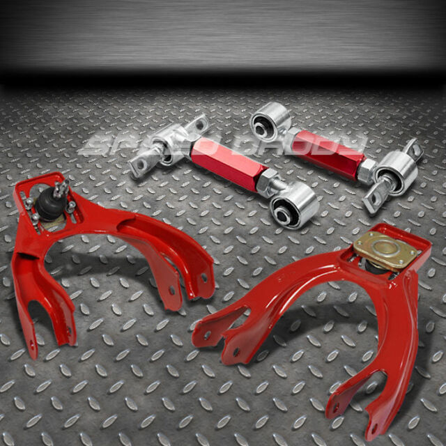 RED FRONT+REAR CAMBER CONTROL SUSPENSION KITS/ARM 92-95 CIVIC EG/EK/INTEGRA DC2