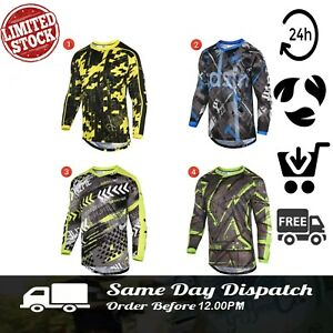 Mens-MTB-Shirt-Cycling-Jersey-Long-Sleeves-High-Quality-Biking-Cycle-Racing-Top