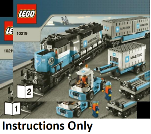 NEW INSTRUCTIONS ONLY LEGO MAERSK TRAIN 10219 10219 10219 books from set 9cb23d
