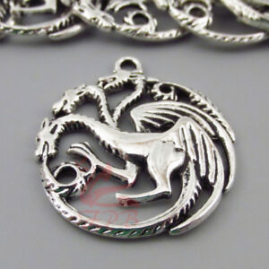 Game Of Thrones House Targaryen Dragon Sigil 31mm Charms - 3/5/10PCs